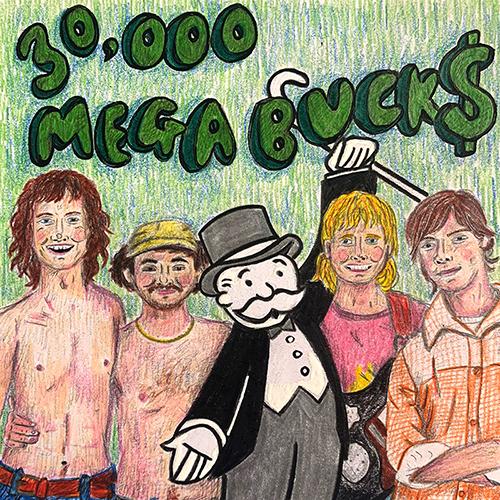 30,000 Megabucks Release Artwork